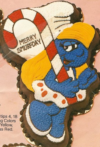 Wilton Smurfette Birthday / Playing Tennis / Christmas Holiday / Valentine Love / Cake Pan (502-4017, 1983) Wallace Berrie & Co. Peyo