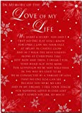 Grave Card - In Memory Of The Love Of My Life At Christmas - Free Card Holder - C106