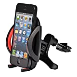 Mudder Voiture universel Air Vent Mount Support Cellule Berceau pour Téléphone Portable iPhone 4 4 s 5 5 s 5C, Samsung Galaxy S3 S4 S5, Galaxy Note 2 3, LG G2, Nexus 5, Système de Navigation GPS (Rouge)...
