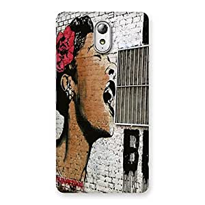 Impressive Girl Singing Wall Back Case Cover for Lenovo Vibe P1M