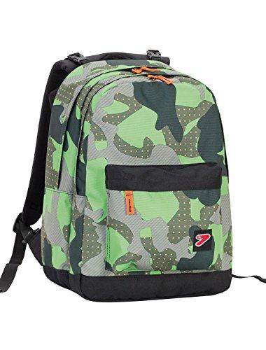 Zaino SEVEN - THE DOUBLE PRO XXL - Camouflage Verde - 30 LT schienale compatibile con COVER e REVERSIBILE