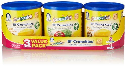 Gerber Graduates Lil Crunchies, Cheddar & Veggie Dip (3 Count, 1.48 Oz Each)