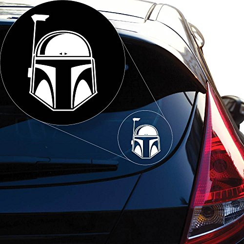 "Star Wars Boba Fett Vinyl Decal Sticker # 845 (6"" x 4.3"", White)"