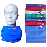 Boys & Girls Personalised Name & Football Winter Neck Scarf Snood (Royal Blue) picture