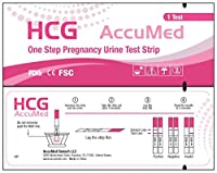 AccuMed 25-Count Pregnancy (HCG) Test Strips, Clear and Accurate Results, FDA Approved and Over 99% Accurate from AccuMed