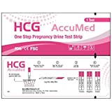 AccuMed Pregnancy Test Strips, 25-Count Individually Wrapped Pregnancy Strips, Early Home Detection Pregnancy Test Kit, Clear HCG Test Results, FDA Approved and Over 99% Accurate