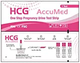 AccuMed 25-Count Pregnancy (HCG) Test Strips, Clear and Accurate Results, FDA Approved and Over 99% Accurate