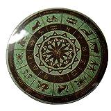 Horoscope Zodiac Wheel Pinback Button Badge