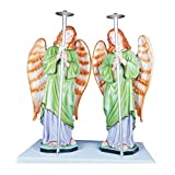 Fibre Statue - Standing Angels With Light