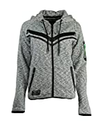 ZZZ-Geographical Norway Sudadera con Cierre Fluence (Gris)
