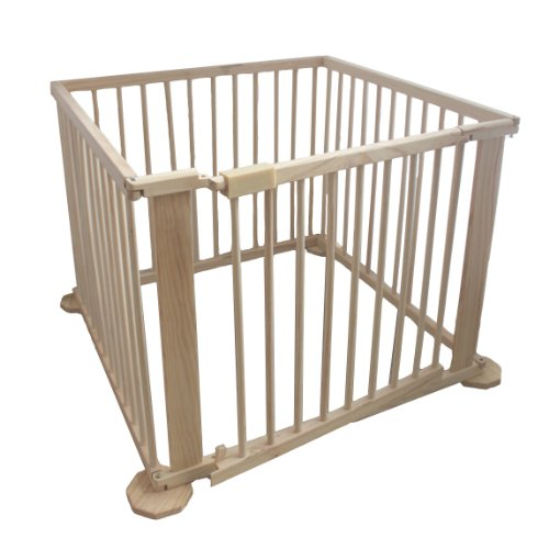 Portable Baby Child Children Foldable Playpen Play Pen Room Divider Wood Wooden 4 Side Panel Heavy Duty New
