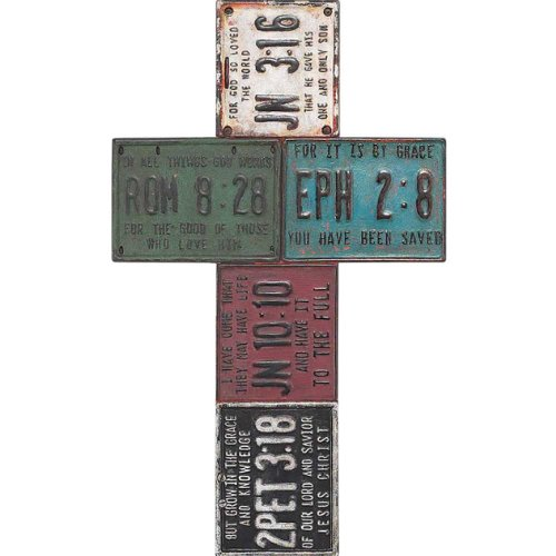 Resin License Plate Wall Cross