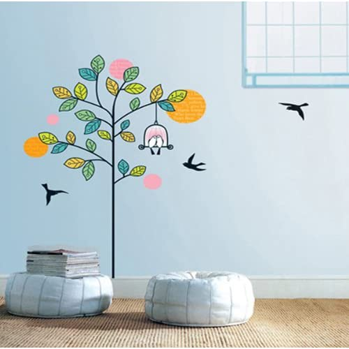 Modern House Hello Kitty removable Vinyl Mural Art Wall Sticker Wall Decal