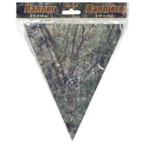 Camouflage Camo Party Supplies Banner 8 Feet