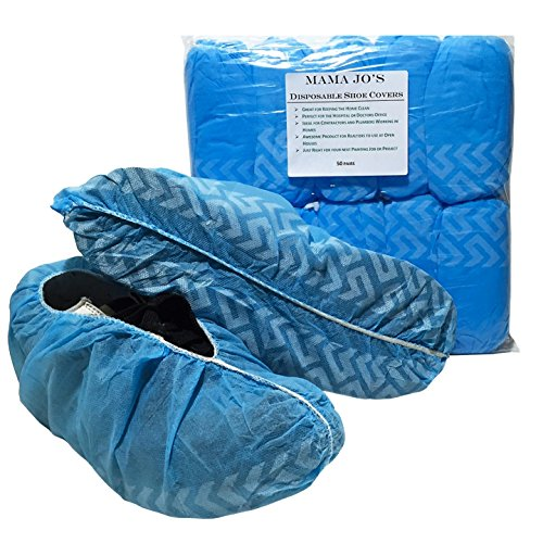 Disposable Shoe Covers - Non Skid Polypropylene Protective Covers for Shoes, Work Boots, Bowling Shoes. Great for The Home, Realtors, Contractors, Plumbers and Car Detailing. (100 Per Pack) 50 Pair (Protective Shoe Covers compare prices)