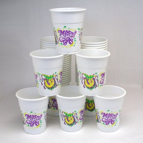 Mardi Gras Disposable Cups : package of 50