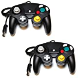 2 x Assecure Compatible black controller pad joypad for Nintendo GameCube & Wii* classic