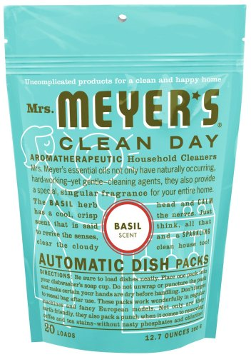 Mrs. Meyer's Clean Day Auto Dishwashing Packs, Basil, 20 count  (Pack of 6)