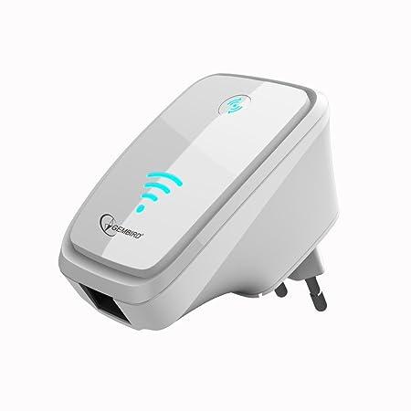 Gembird BTCC Kit mains libres Bluetooth universel Répéteur Wi-Fi blanc blanc