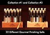 Gourmet Sea Salt Sampler Collection No. 1 & No. 2 - A Collection of 22 different Salts - Taste the World of Salt - Over a Pound of the best Gourmet Salt.