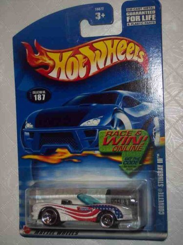 2002-187 Corvette Stingray 3 Collectible Collector Car Mattel Hot Wheels 1:64 Scale by Hot Wheels