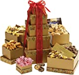 Broadway Basketeers Gourmet Gift Tower Deluxe for Mothers Day