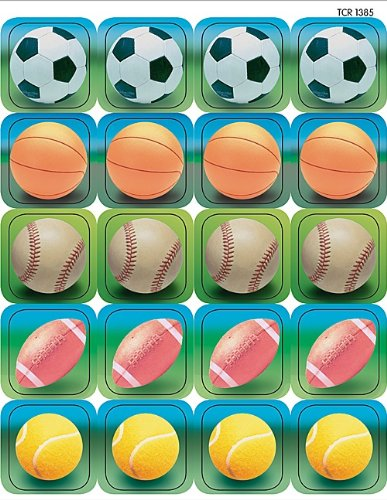 Teacher Created Resources Sports 2 Stickers, Multi Color (1385)