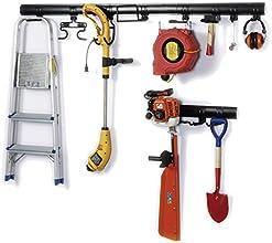 proX 21-teiliges Universal Geräteaufhängung-Set, Werkzeughalter, Gartengerätehalter mit kinderleichter Klickfunktion, robust und sicher