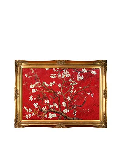 "Vincent Van Gogh ""Branches Of An Almond Tree In Blossom (Red)"" Hand-Painted Reproduction"
