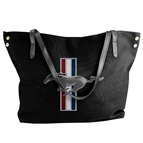 women-run-horse-mustang-canvas-tote-shoulder-bag-handbag