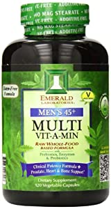 Emerald Laboratories Men's 45 Plus Multi Vitamin, 120 Count