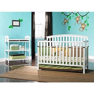 Graco Freeport 4-in-1 Fixed-Side Crib, White