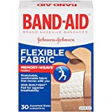 Band-Aid Brand Adhesive Bandages, Flexible Fabric, Assorted, 30 Count