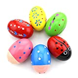 Zicome Set of 6 Wooden Percussion Musical Egg Maracas Egg Shakers