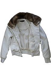 Steve Madden Women's PU Jacket Medium Ivory