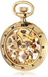 Catorex Men's 090.6.1402.000 Les Petites Brass Skeletal Dial Pocket Watch