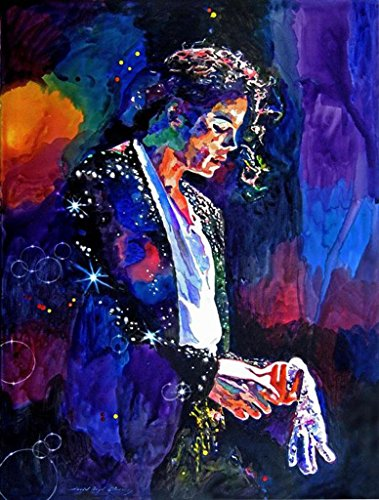 [Canvas Giclee Print Famous Person Michael Jackson Painting, Modern Home Decoration Wall Art,Stretches and Framed, Ready to] (Michael Jackson Decorations)