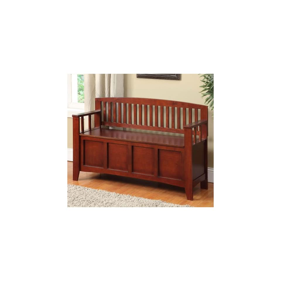 Cynthia Solid Wood Storage Entryway Bench Patio Lawn On Popscreen