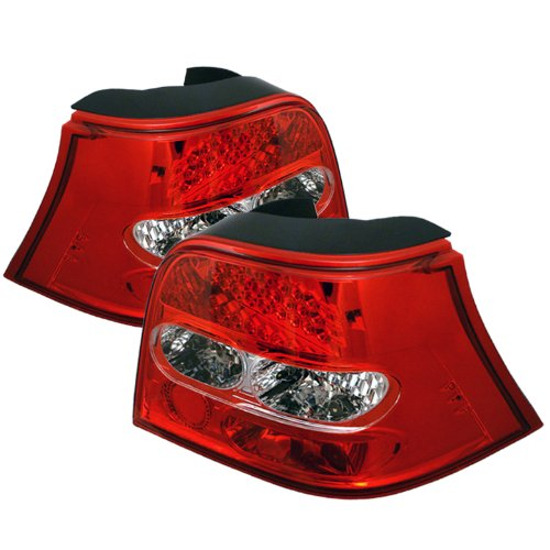 Spyder Auto Volkswagen Golf Red Clear Led Tail Light