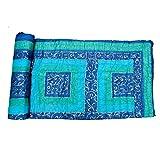 OMOROZE Blue Cotton Golden Print Single Quilt