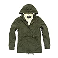 Women's Military Army Hooded Sherpa L…