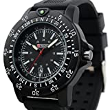 Brand Swiss Design Mens Black Dial Military Functional Bezel Army Watch MR063