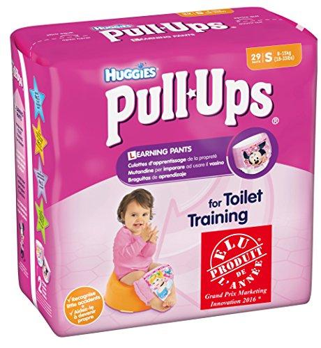 Huggies Pull-Ups -Mutandine di apprendimento per bambina, 29 pz., Taglia 4/S