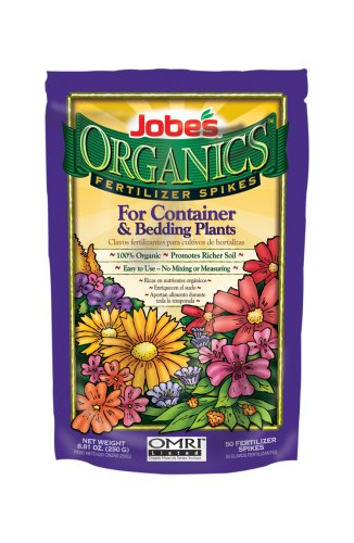 Jobes Organic Container & Annuals Fertilizer Food Spikes - 50 Pack 6128