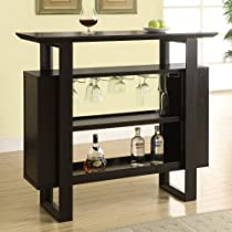 Hot Sale Monarch Bar Unit with Bottle and Glass Storage, 48-Inch, Cappuccino