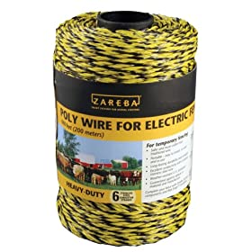 Zareba RSW660HD 660-Foot Heavy-Duty Electric Fence Black-and-Yellow Poly Wire