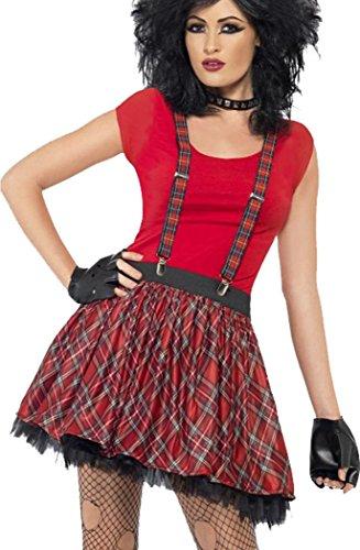 [Ladies Fancy Party Dress Costume 1980s Punk Kit (tutu,braces,fingerless Gloves)] (Used Fancy Dress Costumes Ebay)