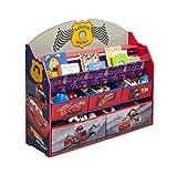 Delta Children Deluxe Book & Toy Organizer, Cars