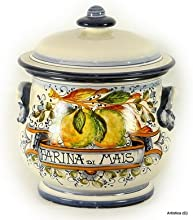 ARANCI Round pot with lid Farina di Mais Corn Flour 3857-ARA