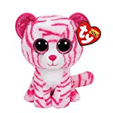 Claires Girls and Womens Beanie Boos Small Asia The Cat Soft Toy in Pink